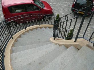 Canterbury Stone and Marble Textured granite staircase (Top view)