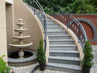 Canterbury Stone and Marble Textured granite staircase (Bottom view)