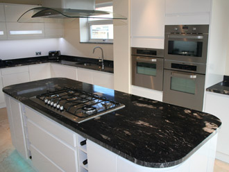 Canterbury Stone and Marble 30mm Cosmic Black natural granite