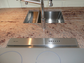 Canterbury Stone and Marble Ivory Brown island